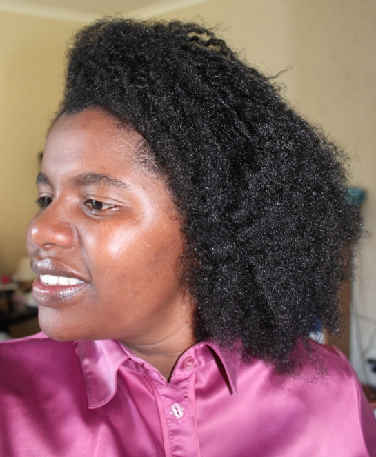 Braid out with glycerine