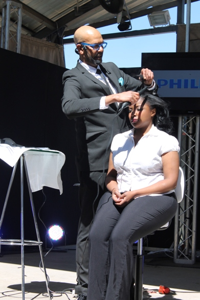 Philips was there with their Flat Iron - On stage demo