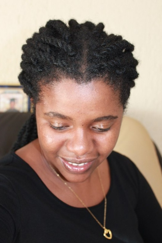 Long term protective style on natural hair with hair extensions