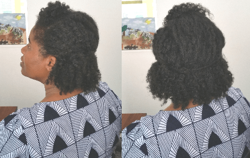 Finger combed natural hair can be style with ease