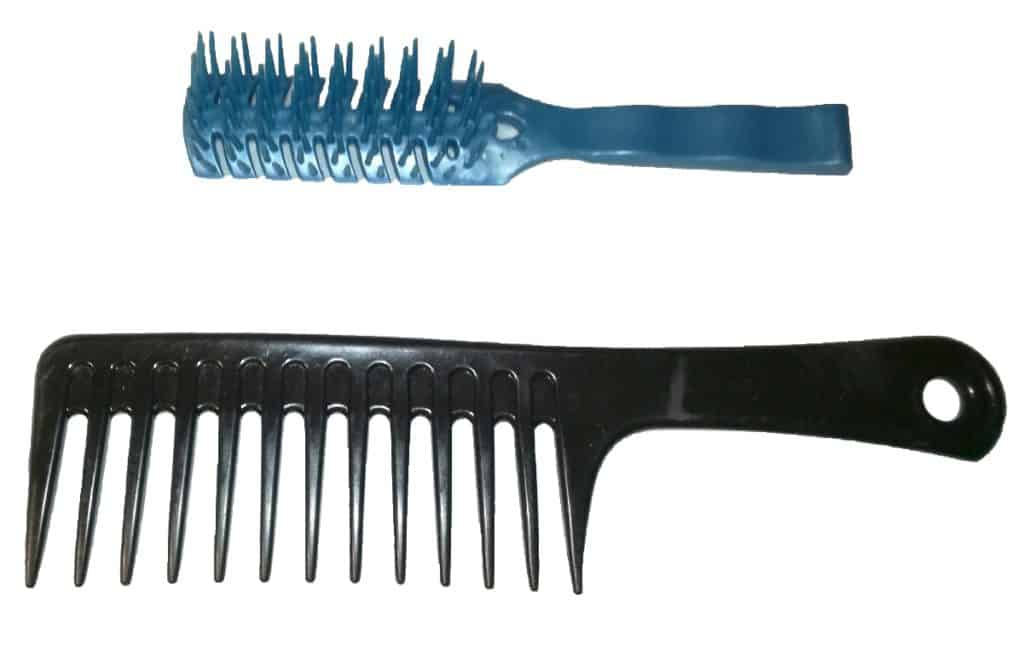 My wide toothed comb and brush favs from the lot I have managed to collect over the years