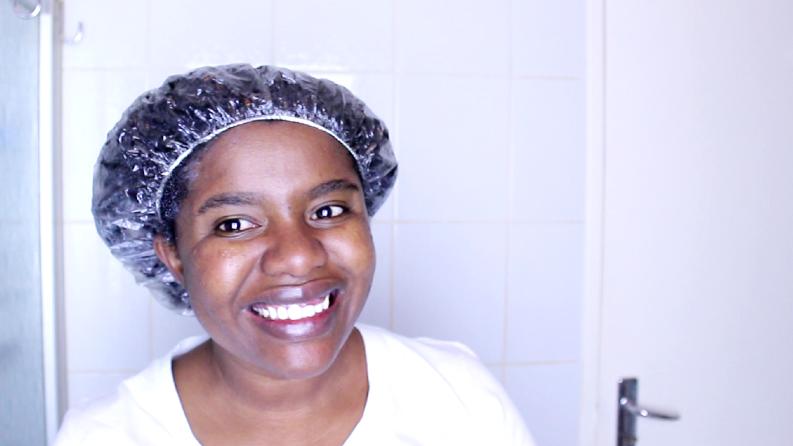Deep conditioning natural hair