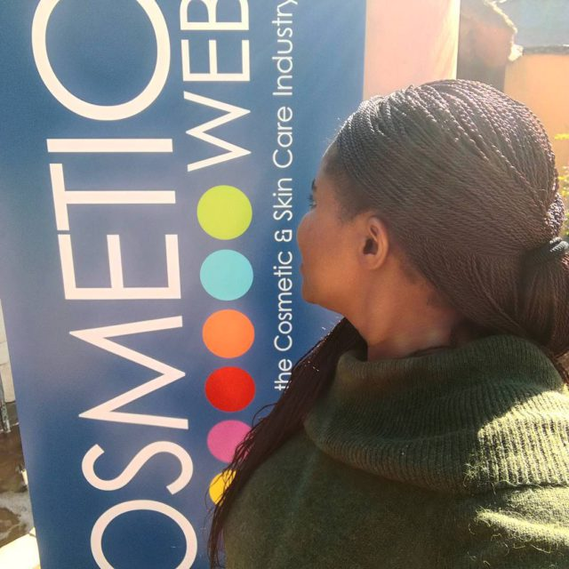 At the cosmeticweb launch this morning