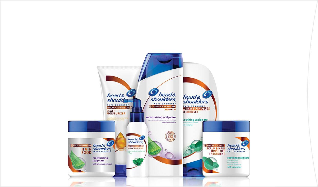 Head & Shoulders African scalp range