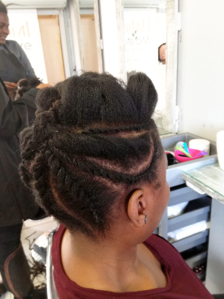 styling on blow dried natural hair