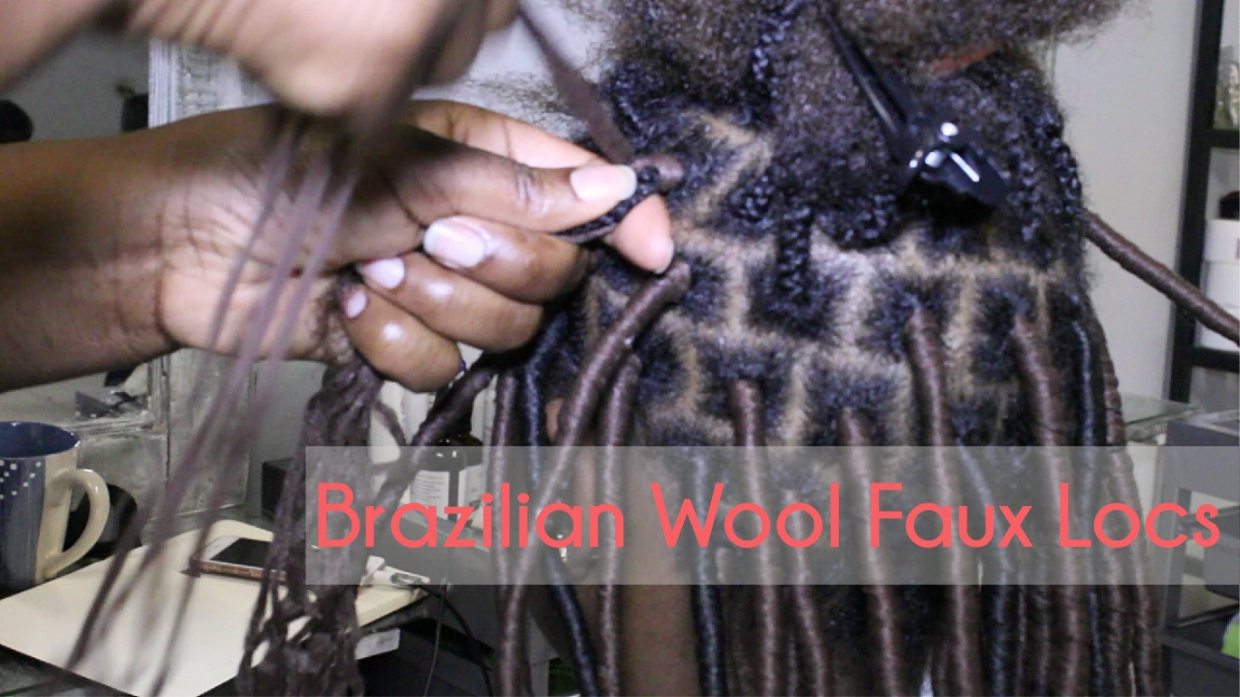 New Way Of Doing Faux Locks With Brazilian Wool Natural