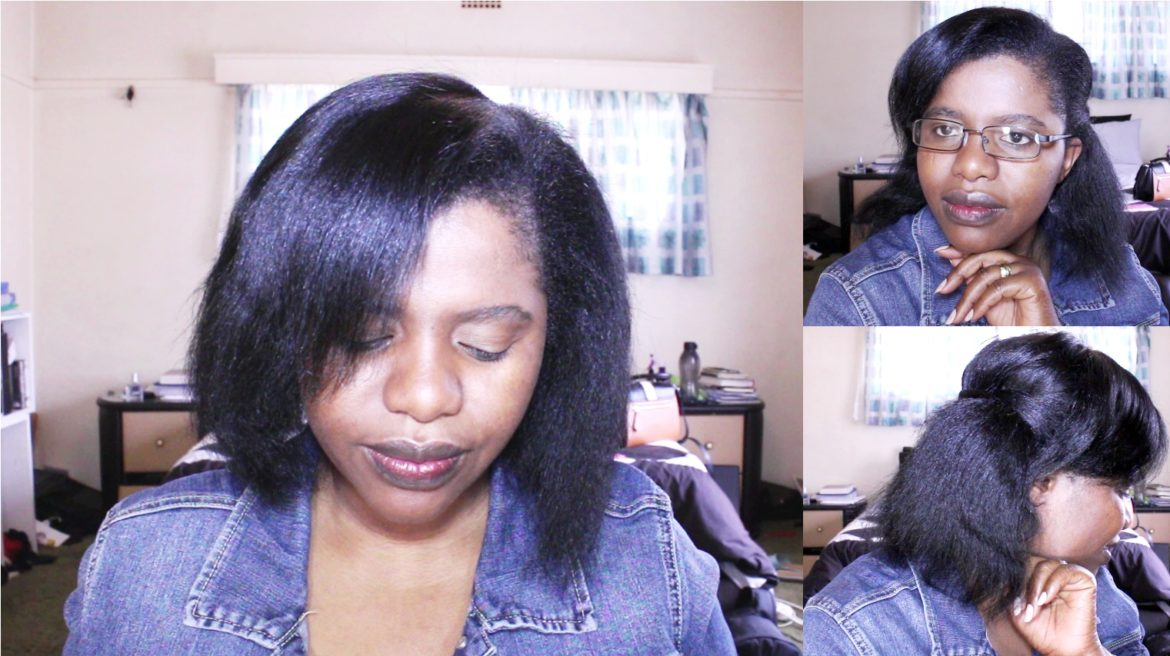 Pressed natural hair